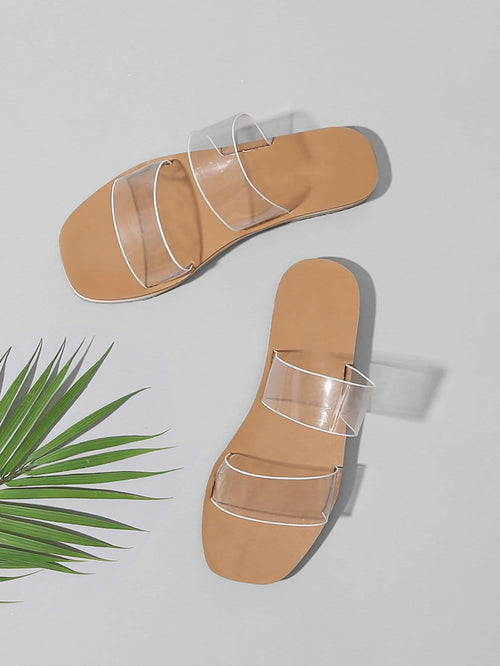 Clear Flat Sandals