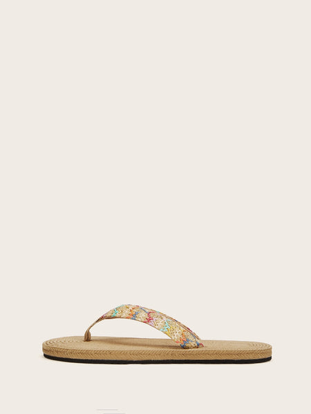 Plaited Detail Flip Flops