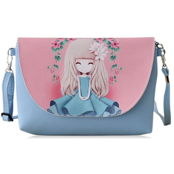 2017 New Cartoon printing Women bag Female PU leather Mini Crossbody Shoulder bags Girls Messenger bag bolsa feminina B075
