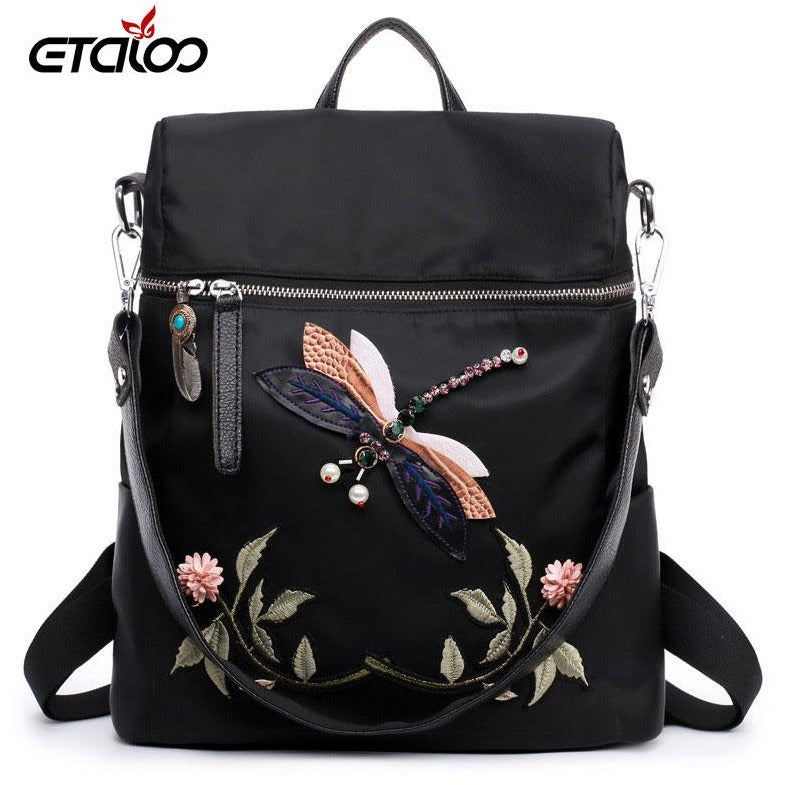 2017 women backpack new bags Korean fashion embroidered backpack tide  student bag travel 220b239dfc172