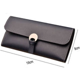 2018 New Female Wallet Leather Women Wallet Change Long Design Hasp Purses Clutch Money Coin Card Holders Wallet Carteras