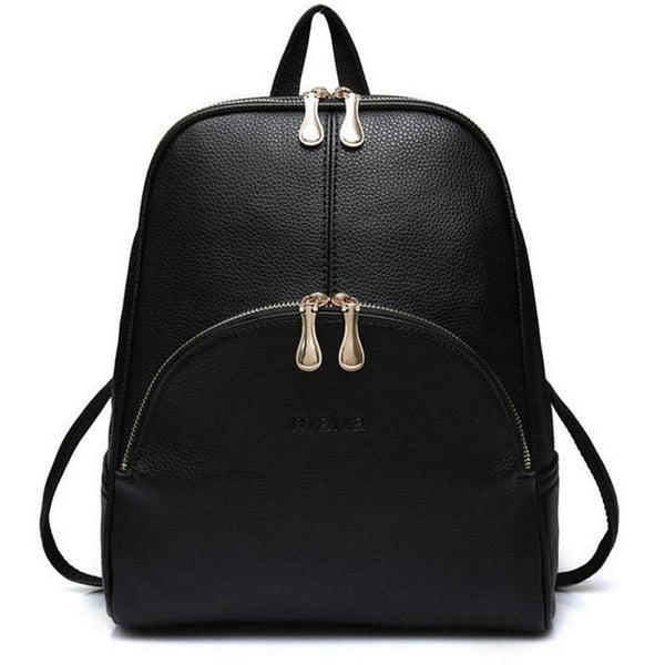 DIGERUI Backpack Pu Backpack Women Leather Backpacks Softback Bags Bag Preppy Casual Backpacks Teenagers Women's Bag A1632