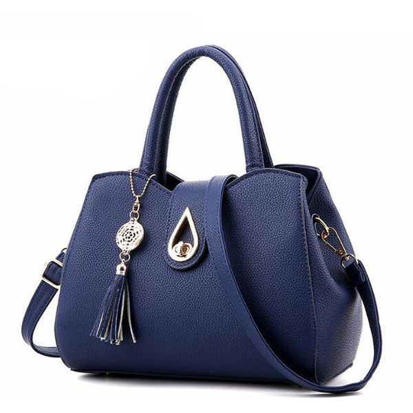DIGERUI Women Handbag Bag Ladies Tassel High Quality PU Leather Totes Bags Brief Women Shoulder Bag Ladies Bags Totes A915