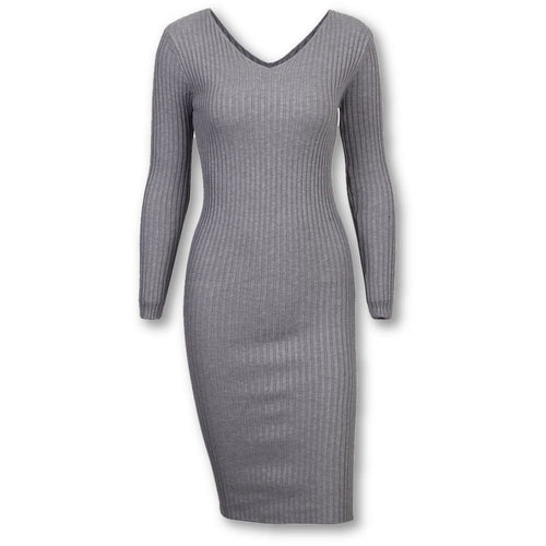 V Midi Sweater Dress