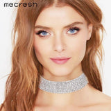 Jewish Girl Rhinestone Choker Necklace for Wedding Jewelry