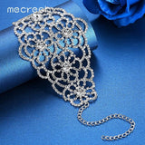 Mecresh Top Crystal Wrap Bracelets for Women Silver Color Floral Girls Pulseras 2017 Bridal Wedding Jewelry Christmas Gift SL128