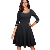 Bue Black A-Line Dress