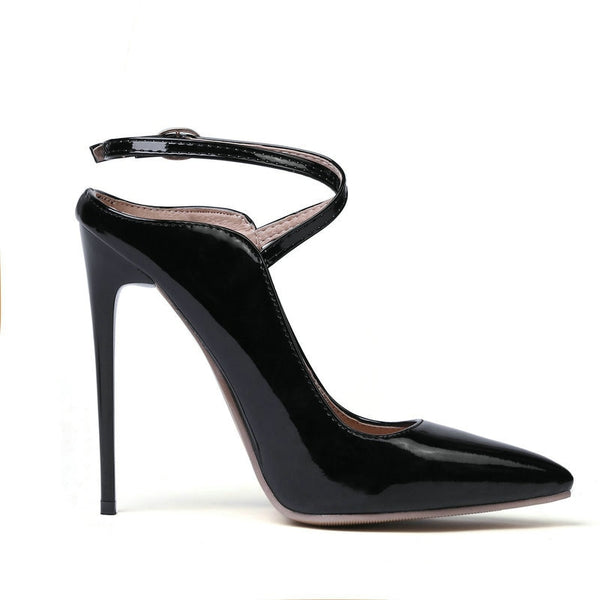Thin High Heel Pointed Toe Pu Leather Ladies Pumps Shoes – Jewish girl f162e5cdece5