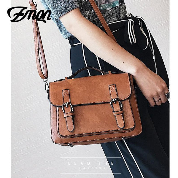 ZMQN Bags For Women 2018 Crossbody Bags PU Leather Small Satchels Vintage Shoulder Bags Handbags Women Famous Brands Cover C202