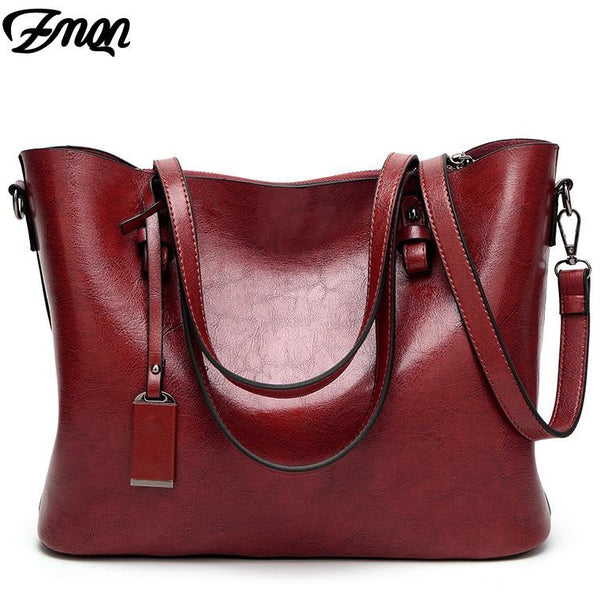ZMQN Handbags Women Shoulder Bags Female Famous Brand Big High Capacity Simple Casual Tote Hand Bag Sac Femme Red Handbags A837