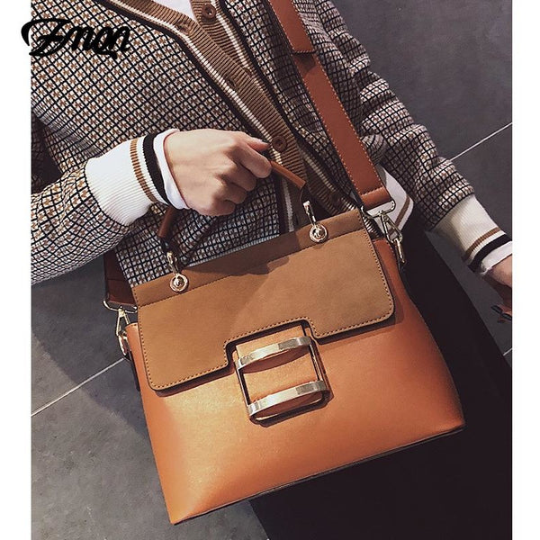 ZMQN Women Bag Vintage Shoulder Bags 2018 Buckle PU Leather Handbags Crossbody Bags For Women Famous Brand Spring Sac Femme C219