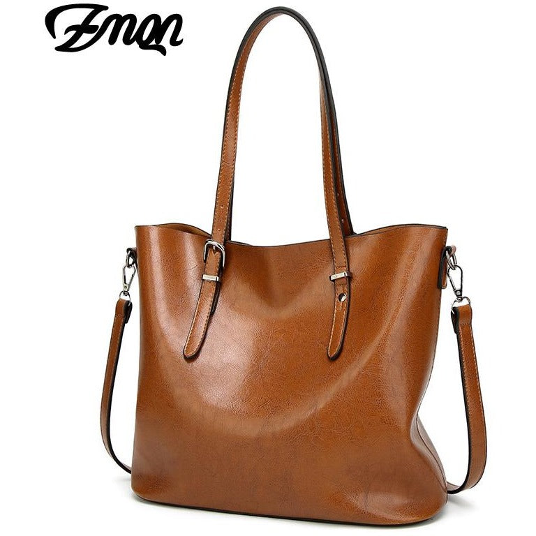 7a23e29a47 ZMQN Women Handbags Big Tote Bags 2018 Crossbody Bags For Women Leather  Handbags Oil Wax Leather