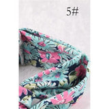 Women Vintage Headband Floral Wide Stretch Hair Band Yoga Elastic Turban Floral Twisted Knotted Headband Hair Accessories