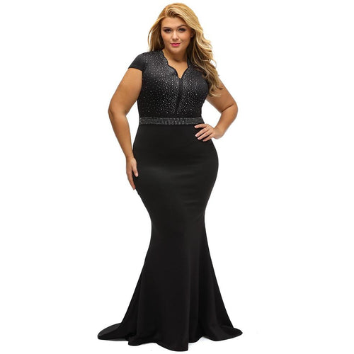 Mermaid Plus Size Maxi Dress