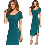 Bodycon Dress Jewish Girl V Back Side Zipper Bodycon Dress 1069