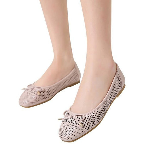 Ballet Hollow Casual Slip Flats Shoes