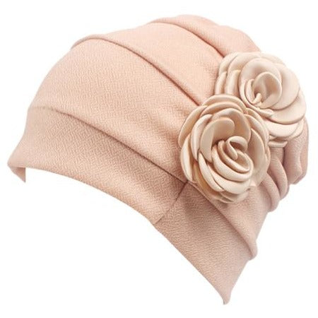 Women Large Flower Model Headscarf Chemotherapy Cap Western Style Ruffle Cancer Chemo Hat Beanie Scarf Turban Wrap hedging Cap