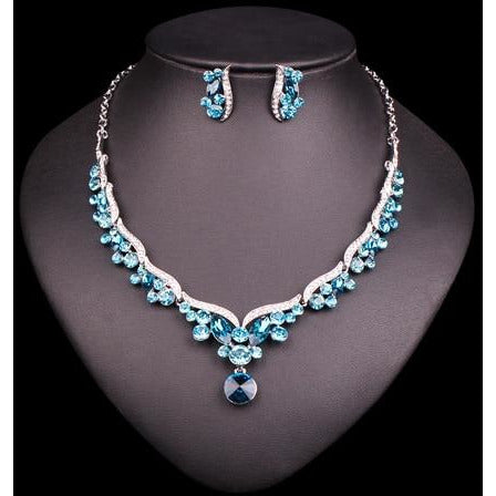 Fashion Crystal Bridal Jewelry Sets For Bride Necklace Earrings