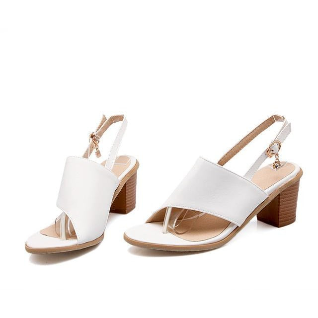 Ankle Strap Open-Toed Heels Sandals