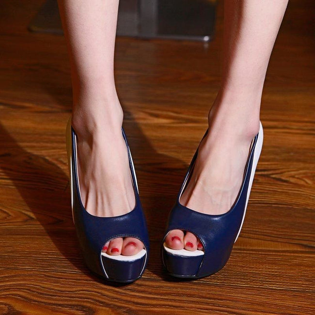 Open Toe High Heels Platform Shoes 3003