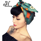 Haimeikang Retro Headwear Floral Print Headband Turban Women Playful DIY Hair Bands Ribbons for Women Hair Accessories