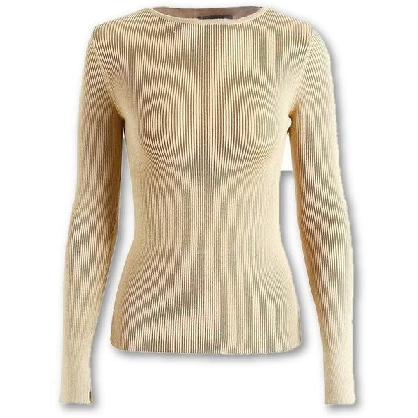 Tops Jewish Girl White knitted pullover sweater women elastic long sleeve knitting pullover Casual autumn winter jumper pullover