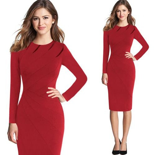 Jewish Girl Casual Office Pencil Dress 1057