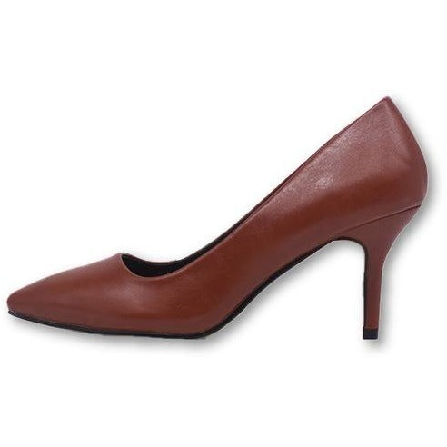 Genuine Leather High Heels Pointed Toe Thin High Heel Shoes