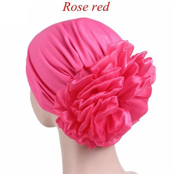 Women Fashion Flower Muslim Ruffle Cancer Chemo Hat Beanie Scarf Turban Head Wrap Cap Beanies Baggy Cap