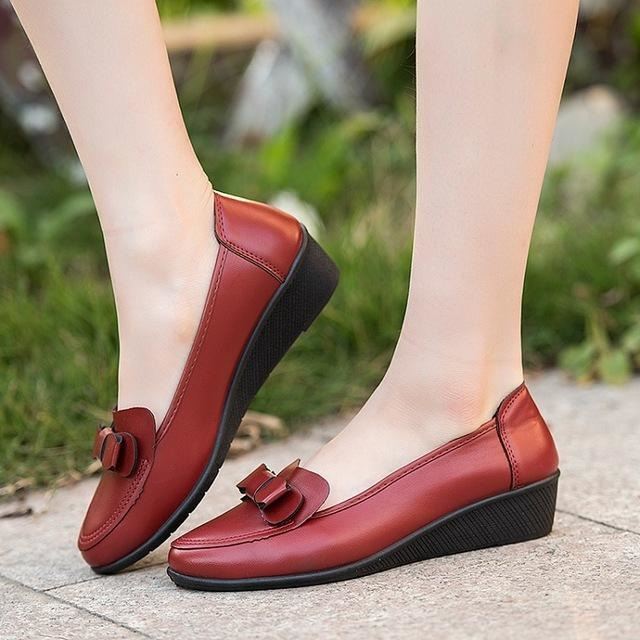 Casual comfortable large size Peas soft-bottomed shoes