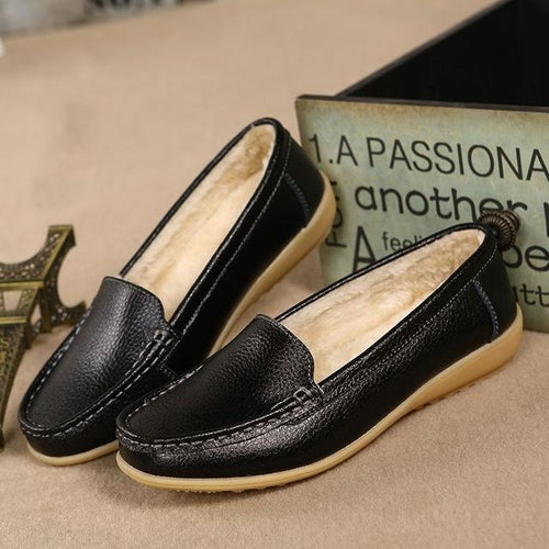 Black Casual Slip On Flats Shoes