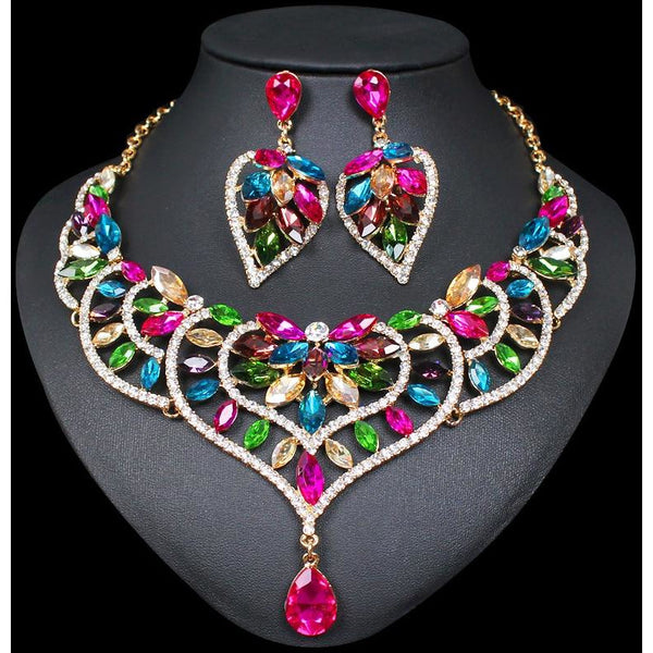 Bridal & Wedding Party Jewelry Jewelry & Watches Fine Necklace Bow Rhinestone Bridal Jewelry Vivid And Great In Style