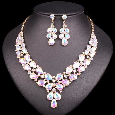 Fashion Crystal Bridal Jewelry Sets Of Costume Accessories Wedding