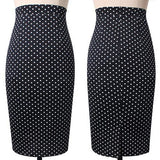 Vfemage Womens Elegant Tartan Solid Work Business Casual Slim Stretch Fitted Bodycon Knee Length High Waist Pencil Skirt 667