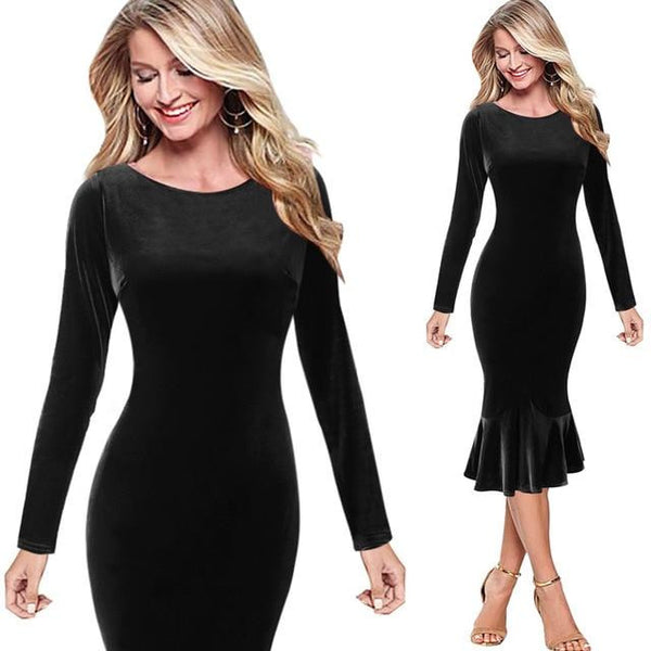 f417c312792 ... Vfemage Womens Elegant Vintage Autumn Mermaid Pinup Wear To Work Office  Business Casual Party Fitted Bodycon ...