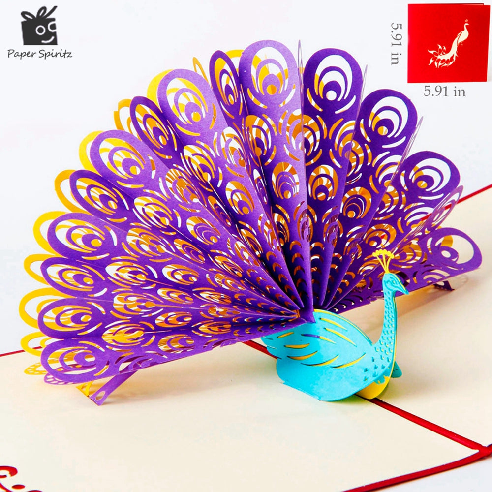 3d Gorgeous Peacock Cards Birthday Thank You Cards Gift Greeting