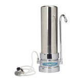 Crystal Quest Stainless Steel Countertop Alkaline Plus Water Filter