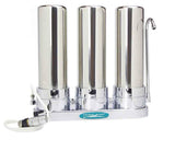 Crystal Quest Stainless Steel 8 Stage Countertop Water Filter