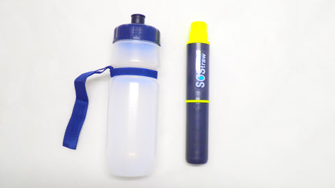 Seychelle Omni Water Filter Straw with 24oz Water Bottle