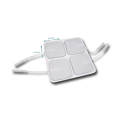 Electrode Pads for TENS Unit EMS Machine Device Massager 4 Pieces Premium Quality Self Adhesive Square 2