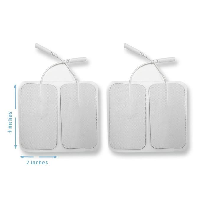 Large Tens Unit Patches Electrode Pads for TENS Unit EMS Machine Device Massager 4 Pieces Premium Quality Self Adhesive 4
