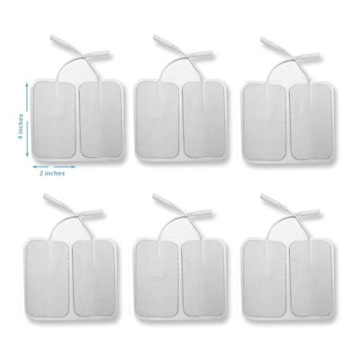 12 Pieces Electrode Pads for TENS Unit EMS Machine Device Massager Premium Quality Self Adhesive Square 4
