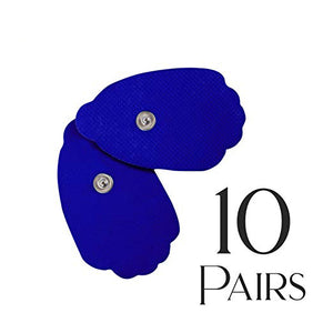 Tens Unit Pads [FDA 510(k) Cleared] 20 Pieces Medical Grade Blue Extra Thick Electrodes