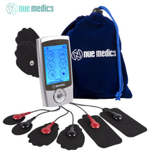 NueMedics PRO 24 Rechargeable TENS Unit with 8 Reusable Pads + Travel Pouch