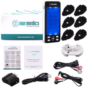 NueMedics TENS 24 MODES TENS UNIT + HARD TRAVEL CASE