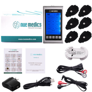 [Lifetime Warranty] NueMedics Tens Unit Muscle Stimulator 12 Massage Modes (SILVER)