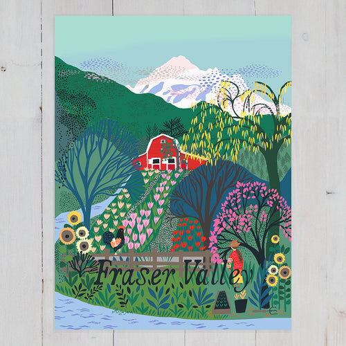 Fraser Valley Art Print