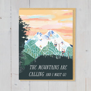 The mountains greetings card