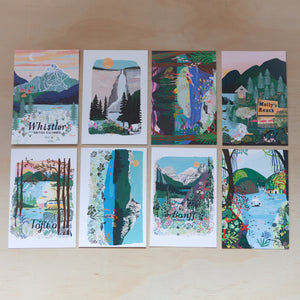 British Columbia pack of 8 postcards