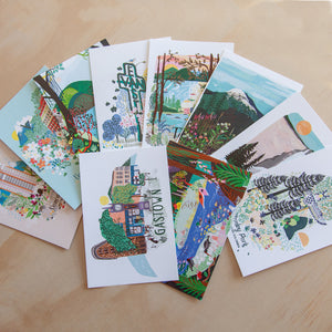 Vancouver and Beyond pack of 10 postcards